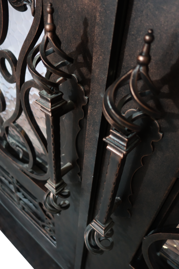 cleaning and maintaining wrought iron doors