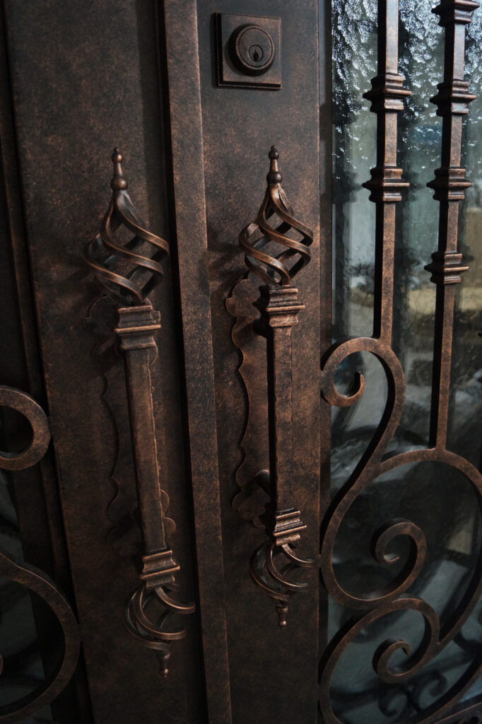 Iron Patio Doors